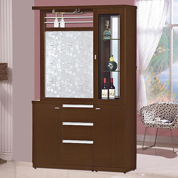 鞋櫃【時尚屋】[G17]凱斯胡桃4尺雙面櫃G17-A192-3/免組裝/免運費/鞋櫃