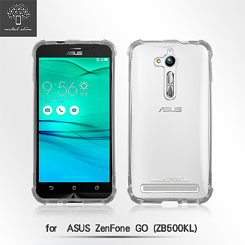 【默肯國際】Metal Slim ASUS ZenFone GO ZB500KL 透明空壓殼 TPU防摔軟殼 手機保護殼 清水套 果凍套