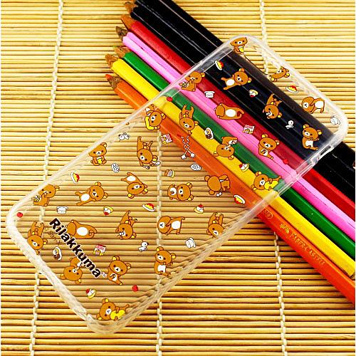 Rilakkuma 拉拉熊 iPhone 6 Plus (5.5吋) 繽紛系列 彩繪透明保護軟套