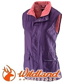 【Wildland 荒野 女防風時尚保暖背心 深紫】22703/保暖背心
