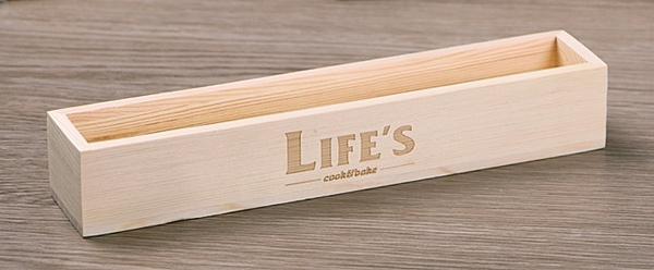【協貿國際】木質長方形蔓越莓餅乾盒