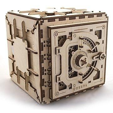 UGEARS 木製自走模型 - 保險箱 (Safe) - 來自烏克蘭.橡皮筋動力.機械驚奇 ! 科學玩具 強強滾