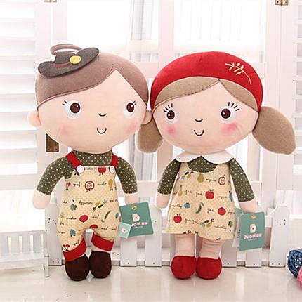 可愛創意情侶玩偶一對絨毛玩具  新年禮物 結婚禮物 生日禮物!! (30cm一對)