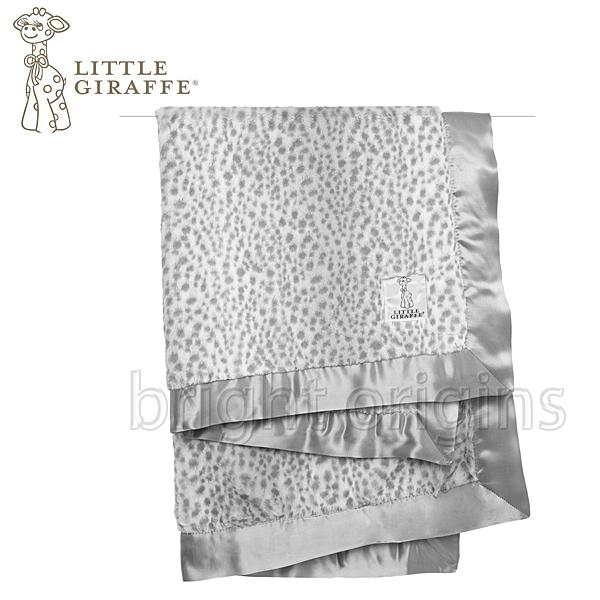 Little Giraffe 豪華豹紋嬰兒毯 雪豹