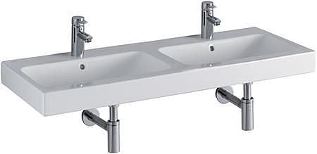 【麗室衛浴】德國 KERAMAG ICON系列 120*48.5CM  一體雙槽盆 124120