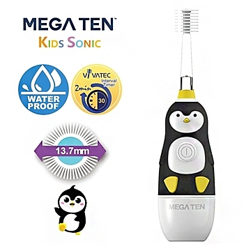 【愛吾兒】日本 Vivatec Mega Ten幼童電動牙刷-可愛企鵝