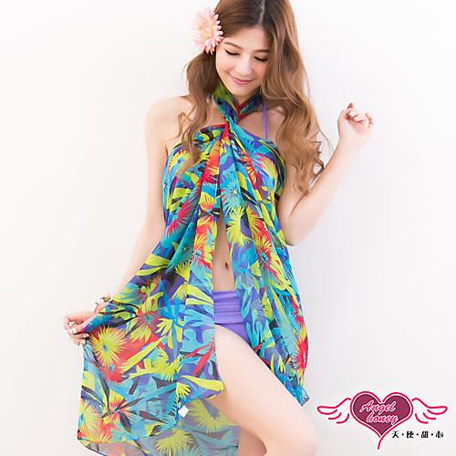 天使甜心 睡衣館  VA14419藍 多種穿法外搭紗裙 海灘巾 溫泉SPA泡湯