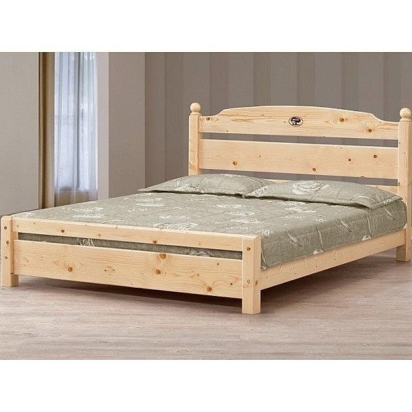 床架 床台 MK-669-4 5尺松木雙人床 (可調高低)(不含床墊) 【大眾家居舘】