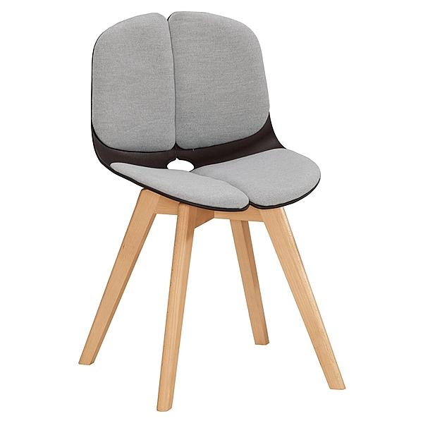 【森可家居】格娜茜造型椅(黑)(布)(實木) 8CM1039-4 休閒椅 商業椅