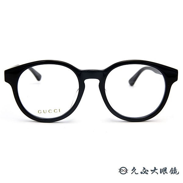 GUCCI 眼鏡 GG0350OA (黑) 圓框 鉚釘 近視眼鏡 久必大眼鏡