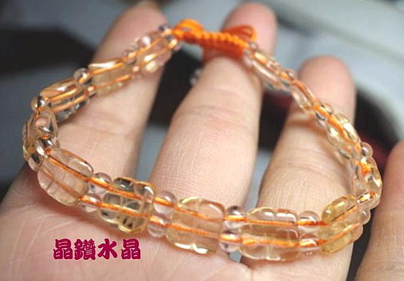 『晶鑽水晶』天然黃水晶手鍊招財貓造型~高淨度! 強力招財