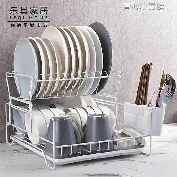 放碗碟架瀝水架廚房雙層筷子盤子杯子餐具碗筷收納架瀝水籃晾碗架YYJ 新年特惠