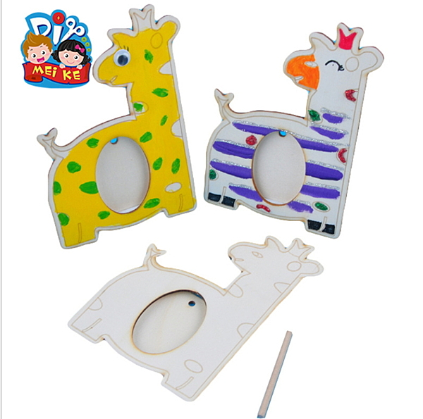 木質小鹿相框 幼兒園母親節立體創意塗色塗鴉手工美可diy製作材料(隨機出貨)─預購CH5129