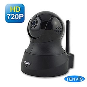 新竹【超人3C】TENVIS TH-661 HD無線網路攝影機 黑色 百萬畫素/雙向語音/手機觀看 WDR廣域動態視角