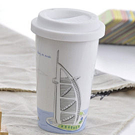 Bella House 我不是紙杯~城市風情系列 雙層陶瓷杯_杜拜 帆船酒店