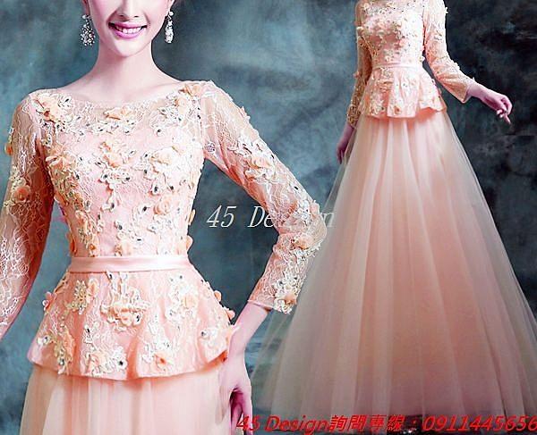 (45 Design) 訂做款式7天到貨   韓式公主新娘婚紗禮服 訂製款 大尺碼旗袍禮服
