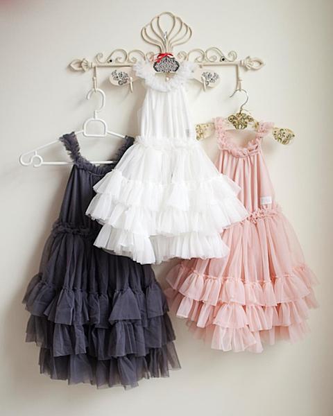 【荷蘭 DOLLY】公主雪紡洋裝_純白  RCDD1