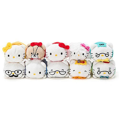 【震撼精品百貨】Hello Kitty 凱蒂貓~HELLO KITTY愛世界系列KITTY家族趴趴造型玩偶組(一組10個入)