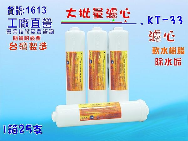 【七星淨水】KT樹脂濾心25支中T.淨水器.水族館.缸濾水.軟水器.水塔過濾器 (貨號:1613)
