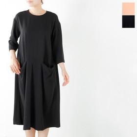 nooy ヌーイ アセテート五分丈ポケットドレス