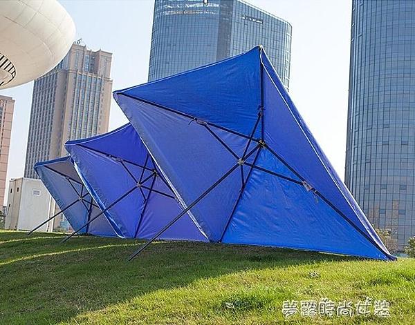 溪達太陽傘遮陽傘大雨傘擺攤商用超大號戶外大型擺攤傘四方長方形YXS【快速出貨】