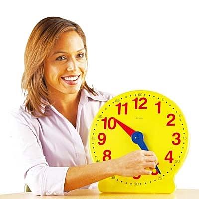【華森葳兒童教玩具】數學教具系列-超大教學時鐘 N1-2094