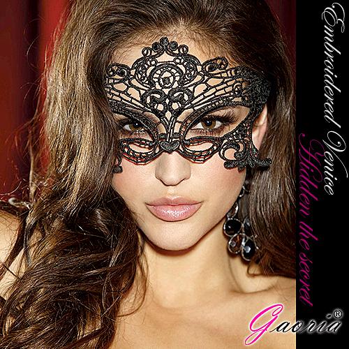 【Gaoria】 我性感嗎 高檔刺繡蕾絲眼罩 遊戲派對聚會面具 蘇菲24H購物