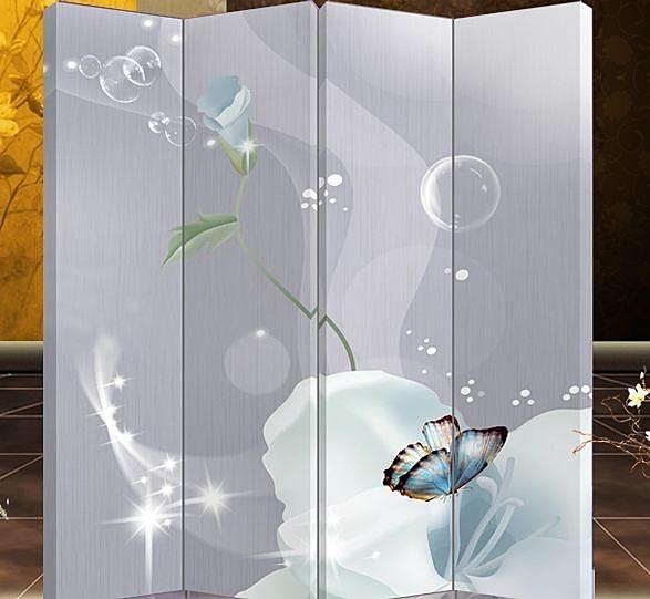 千億家居 四扇屏風-現代風格447 家具/隔間/辦公/客廳/玄關風水