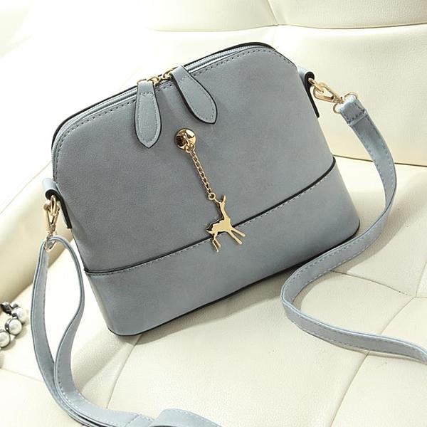 新品新款韓式潮時尚女包側背包小包包磨砂貝殼包女士肩背包斜背包