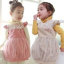 韓版《鍛面燈籠裙》甜美背心裙~洋裝
