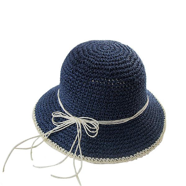 草帽-拼色可摺疊繫繩簡約女漁夫帽4色73vq9【時尚巴黎】