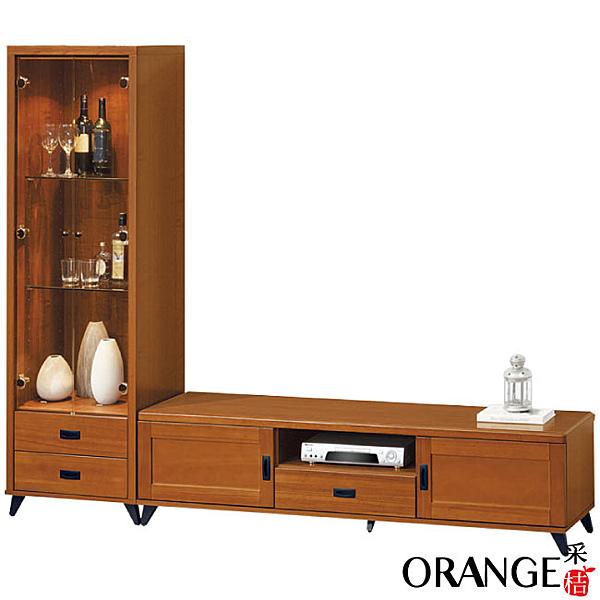 【采桔家居】多瓦納   時尚8尺實木電視櫃/展示櫃組合