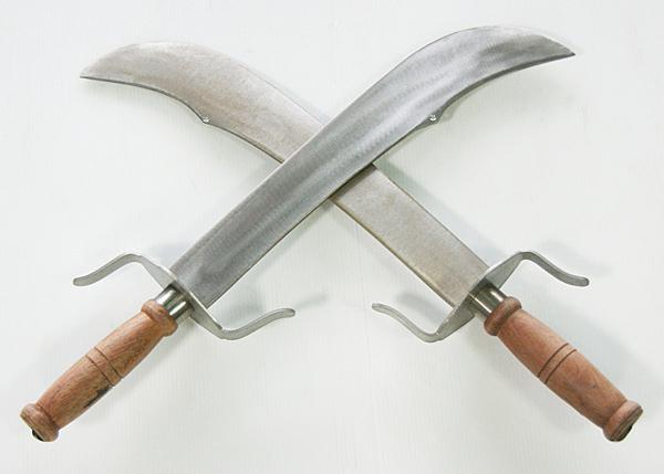 郭常喜與興達刀鋪-宋江陣器具-雙刀一副(S0013)手工鍛打,不鏽鋼一體成型,堅固耐用