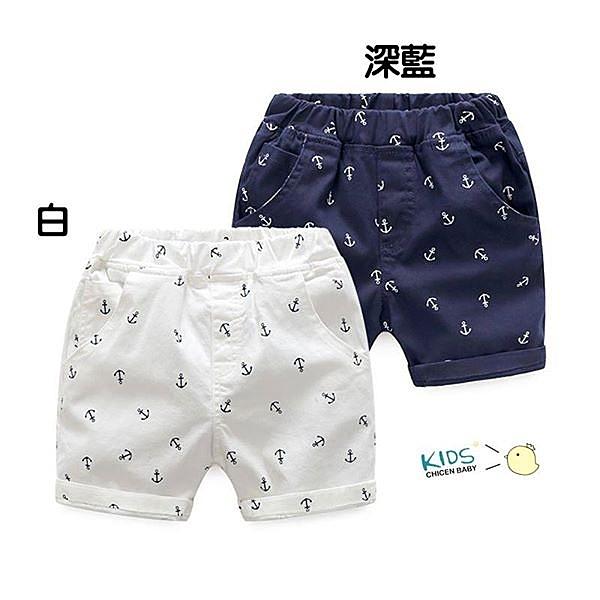 現貨 棉質 船錨印花薄款短褲【60539】