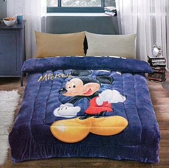 【Jenny Silk名床】米奇.藍.法萊絨.法蘭絨.暖暖被.150x200公分