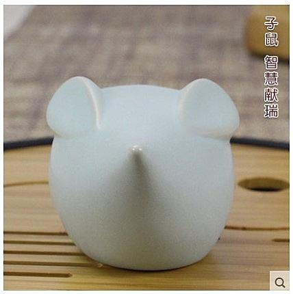 [銀聯網] 十二生肖卵青釉小擺件茶寵精品 1入