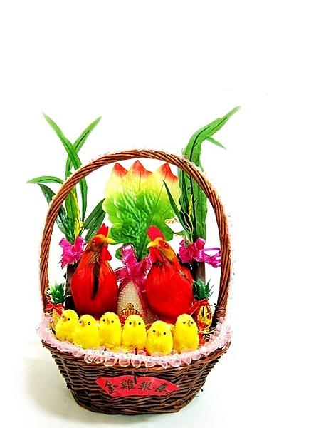 幸福婚禮小物❤藤籃雞 帶路雞❤傳統婚禮用品