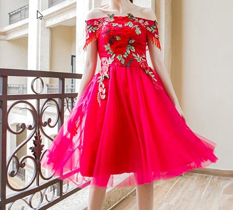 (45 Design)  訂做7天到貨 韓風婚紗禮服 晚宴 顯瘦性感晚宴結婚禮服婚紗 高級訂製短禮服6