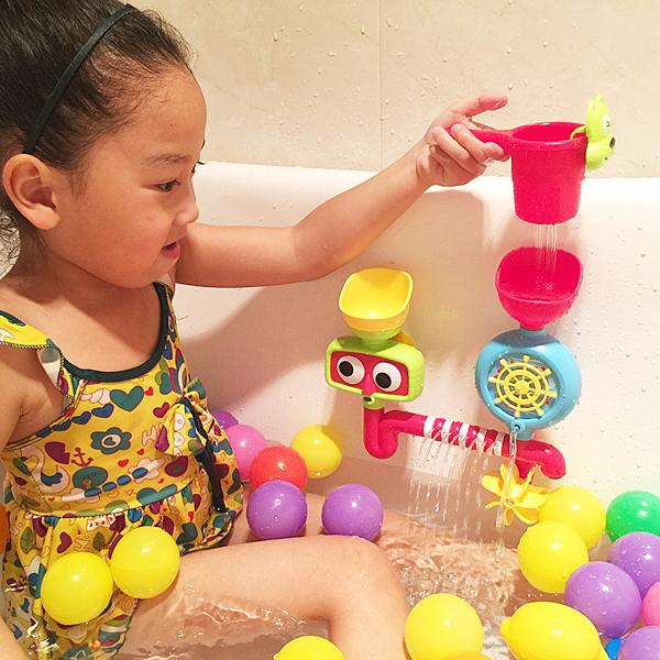 *幼之圓*浴室轉轉樂寶寶洗澡玩具~浴室玩具 噴水玩具 ~超有趣~寶寶洗澡好玩具