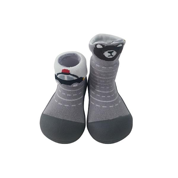 韓國 Attipas 快樂腳襪型學步鞋-城市小熊
