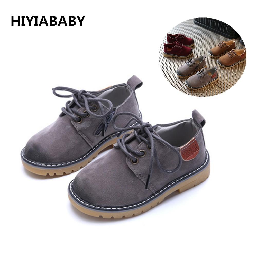 時尚百搭春款兒童休閒鞋男女童皮鞋英倫復古單鞋耐磨大頭皮鞋寶寶鞋