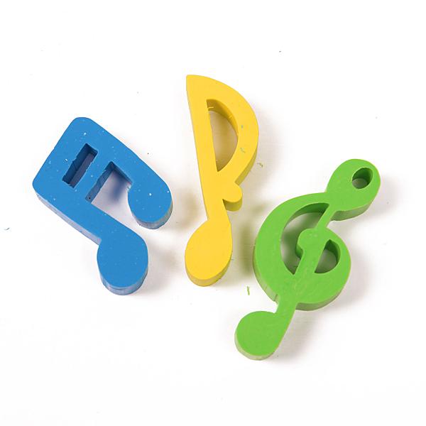 小叮噹的店 NC005 造型橡皮擦3入組 高音符 雙八音符 單八音符