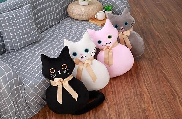 【100公分】創意仿真長尾貓咪玩偶 貓奴必備 娃娃枕頭靠墊 聖誕節交換禮物 生日 兒童節 情人節