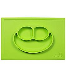 美國EZPZ 矽膠幼兒餐具 防滑餐盤-蘋果綠[衛立兒生活館]