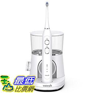 9美國直購] Waterpik SF-01 音波沖牙型 電動牙刷 2效合1 Sonic-Fusion, White with Chrome