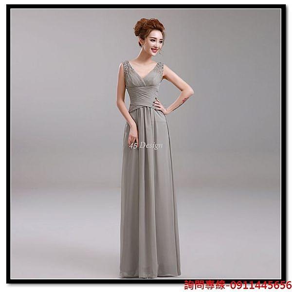 (45 Design) 訂做款式7天到貨 專業訂製款 大尺碼 定做顏色 新娘敬酒服晚宴宴會晚裝禮服 胖MM