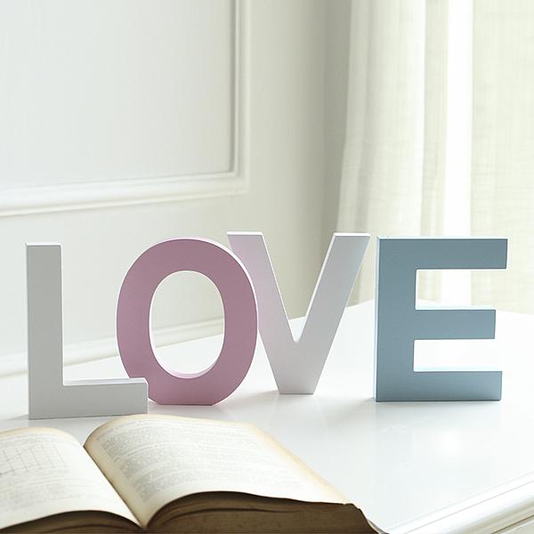 diy木質英文字母家居創意擺件婚慶裝飾擺設壁飾拍攝道具小號粉色─預購CH1997