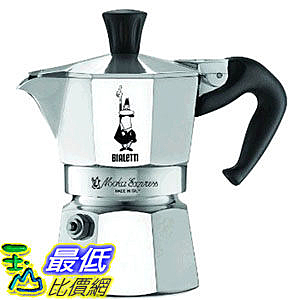 [美國直購] Bialetti 6857 Moka Express 1-Cup Stovetop Espresso Maker 經典摩卡壺(MOKA) 1杯份