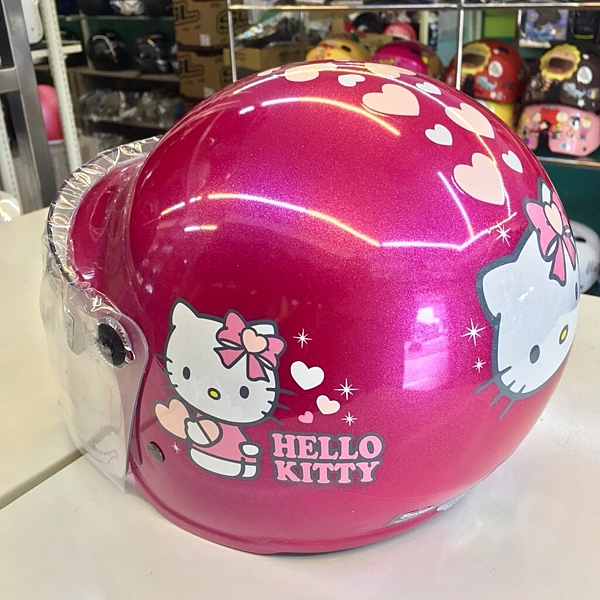 HELLO KITTY安全帽,兒童安全帽,CA003,CA002,愛心KITTY/桃