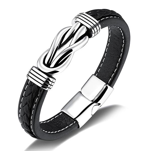【5折超值價】經典潮流特色造型款鈦鋼皮手環